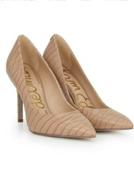 Sam Edelman Hazel Leather Heels - Toasted Almond