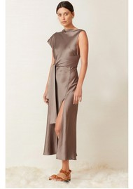 BEC & BRIDGE Piper Asymmetrical Midi Dress - Olive