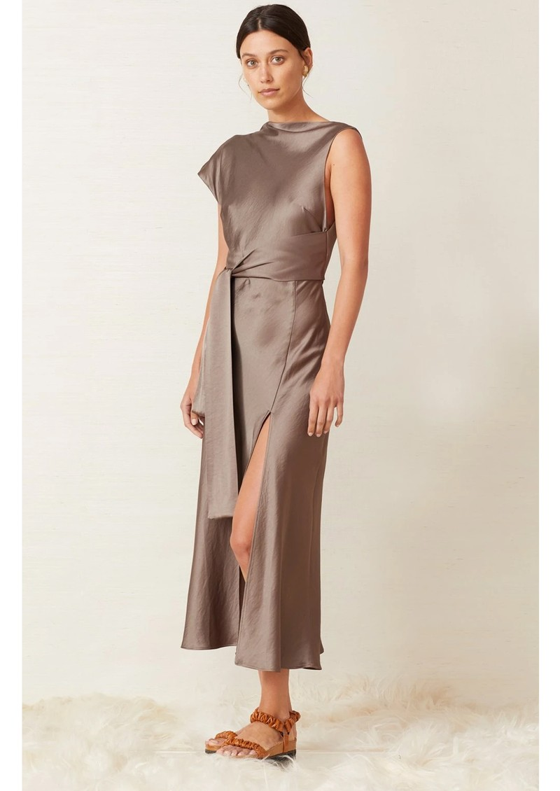 BEC & BRIDGE Piper Asymmetrical Midi Dress - Olive main image