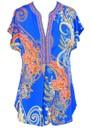 Hale Bob Short Sleeve Printed Top - Blue
