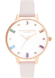 Olivia Burton Rainbow Blossom Demi Dial Watch - Rose Gold