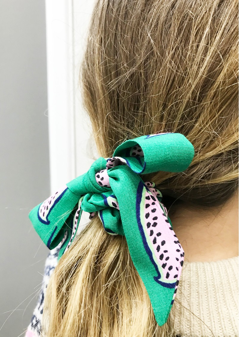 FABIENNE CHAPOT Scottie Scrunchie - Pink Pepper main image