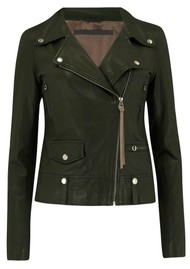 MDK Seattle New Thin Leather Jacket - Dark Green
