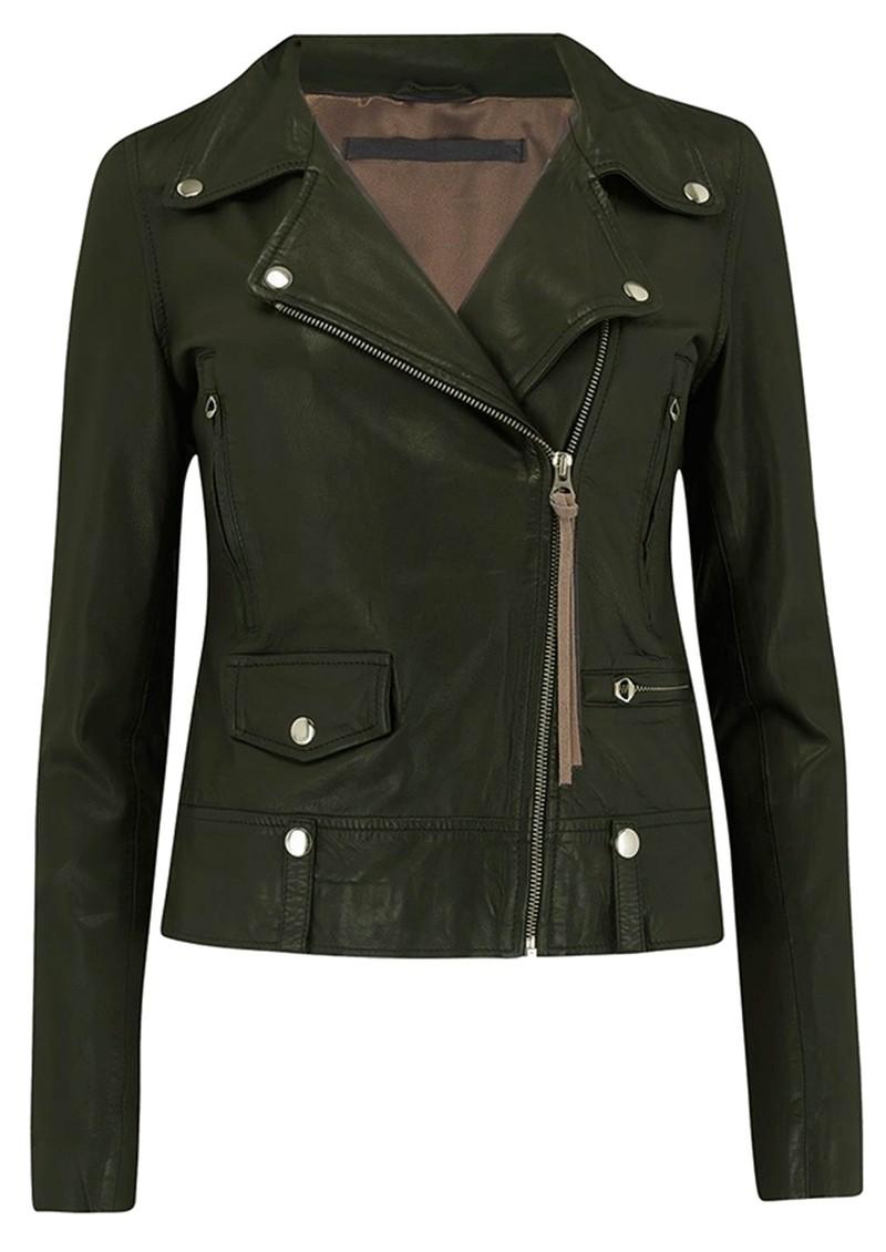 MDK Seattle New Thin Leather Jacket - Dark Green main image