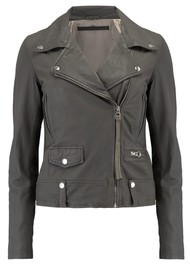 MDK Seattle New Thin Leather Jacket - Grey