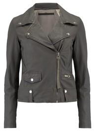 MDK Seattle New Thin Leather Jacket - Grey