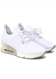 Ash Lunatic Knit Trainer - White