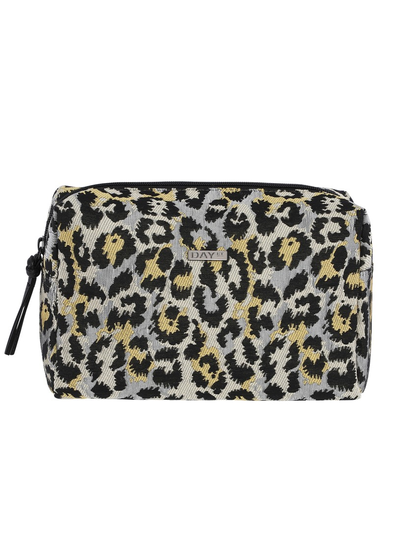 Day Gweneth Leopard J Jagged Beauty Bag - Yellow main image