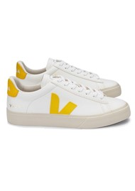 VEJA Campo Leather Trainers - Extra White & Tonic