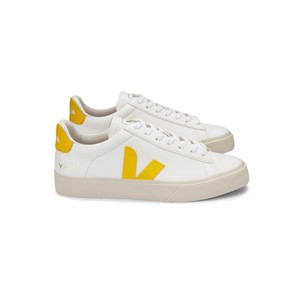Campo Leather Trainers - Extra White & Tonic