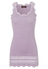 Rosemunde Wide Lace Silk Blend Vest - Iris Purple