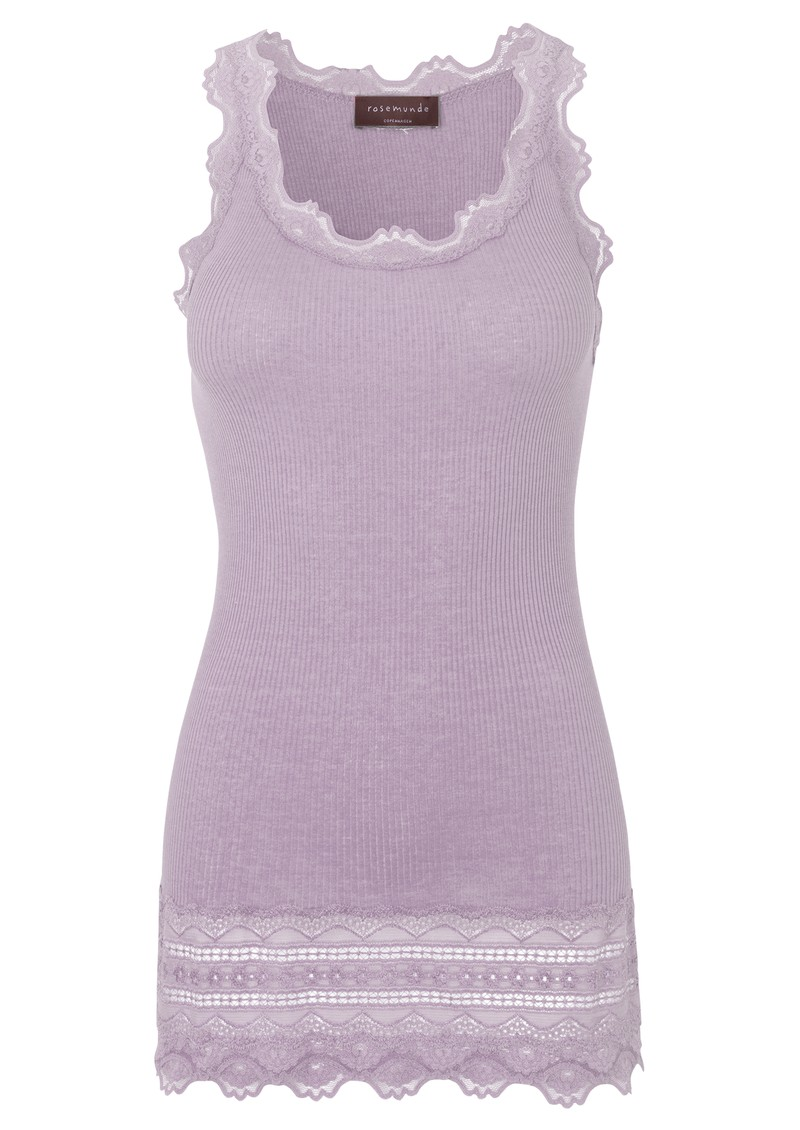 Rosemunde Wide Lace Silk Blend Vest - Iris Purple main image