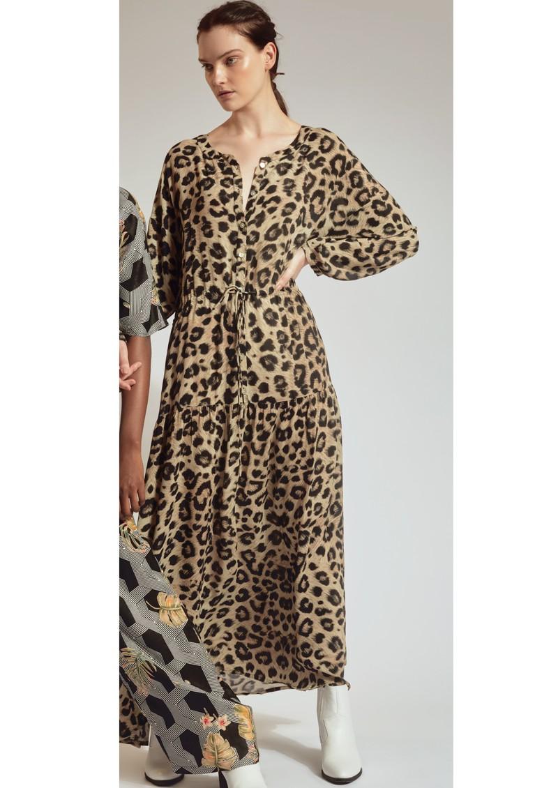 Pyrus Frances Maxi Dress - Muted Cheetah main image