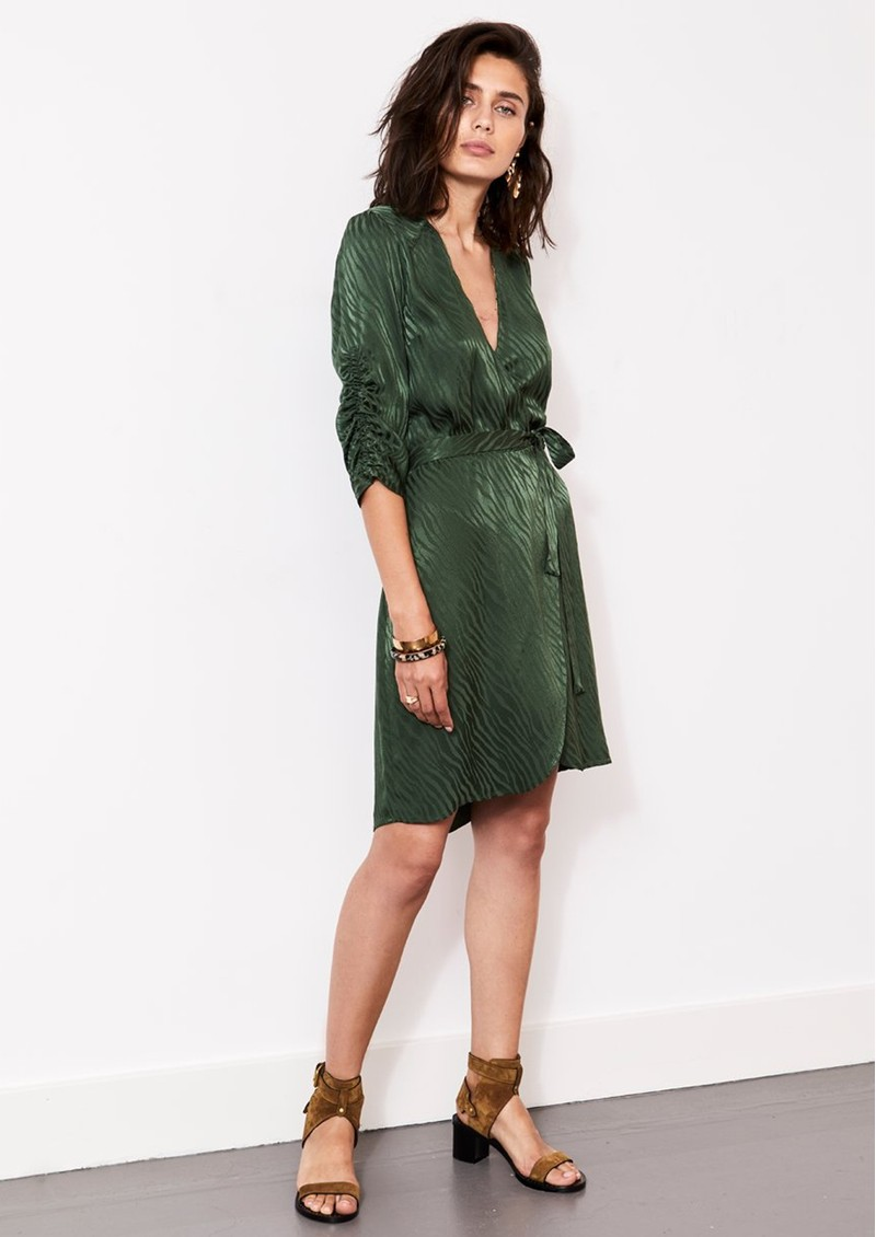 DANTE 6 Hayden Wrap Dress - Soft Moss  main image