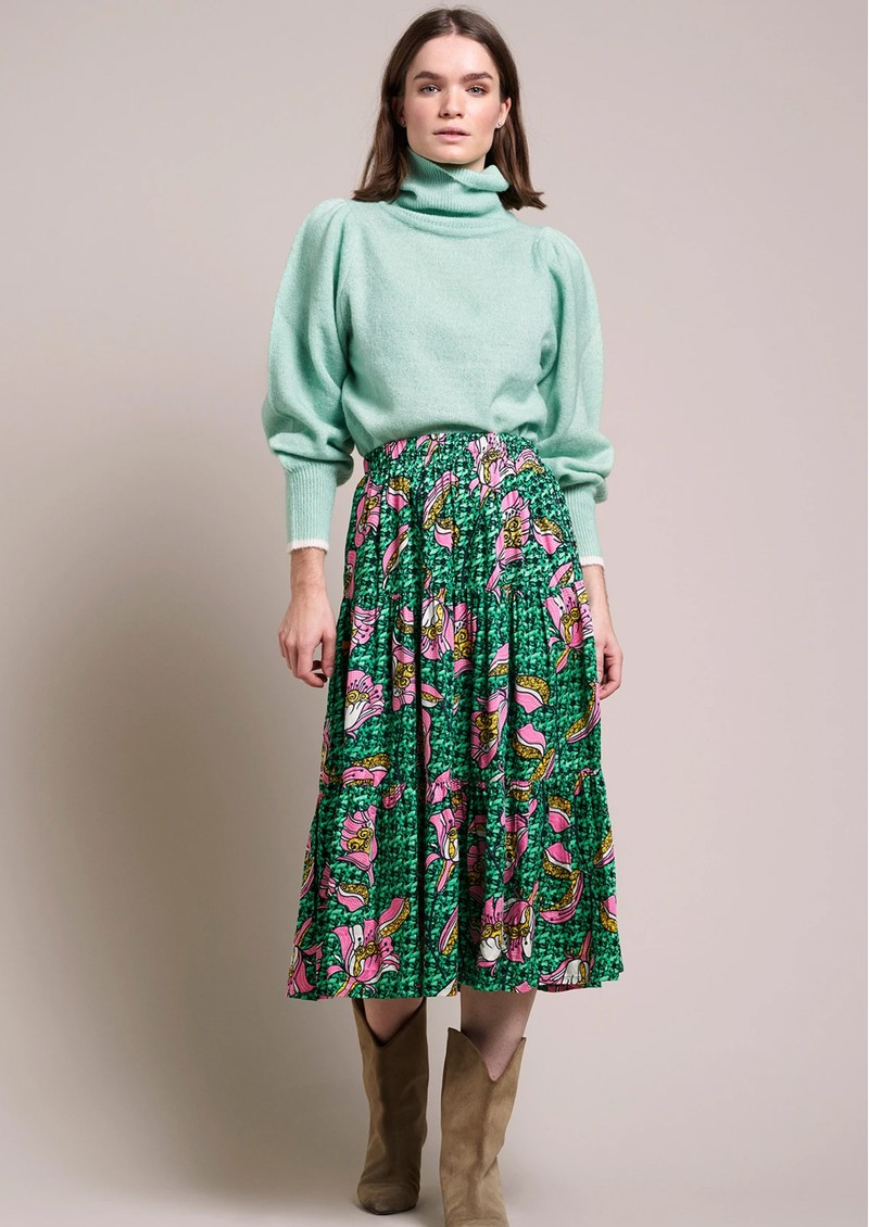 LOLLYS LAUNDRY Morning Midi Skirt -Dark Green  main image