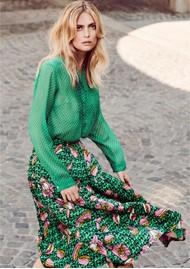 LOLLYS LAUNDRY Morning Midi Skirt -Dark Green