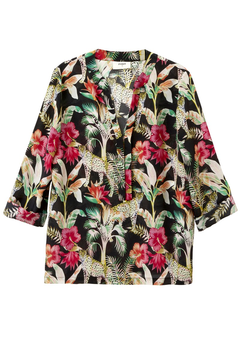 Paola Silk Blouse - Leopard main image