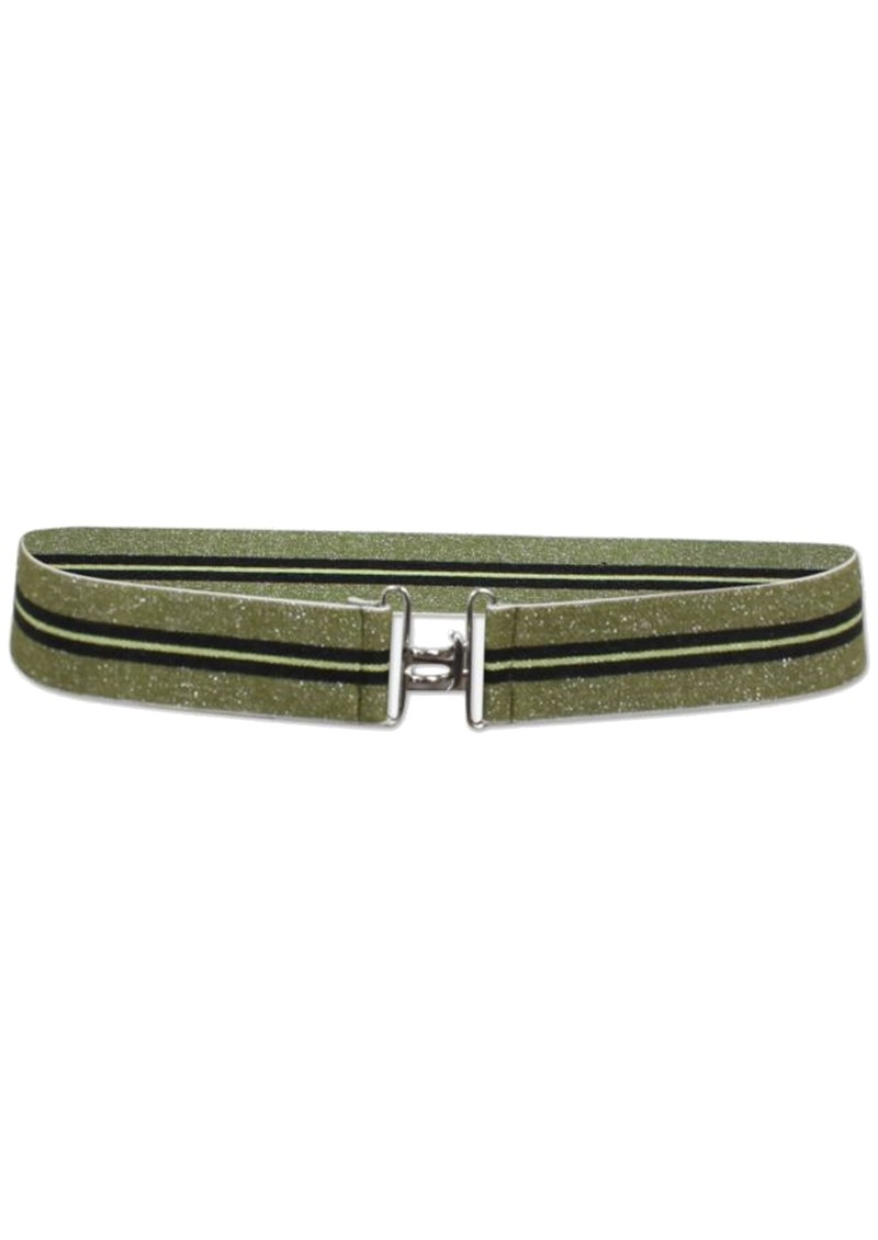 BAUM UND PFERDGARTEN Laila Lurex Elasticated Belt - Khaki & Black main image