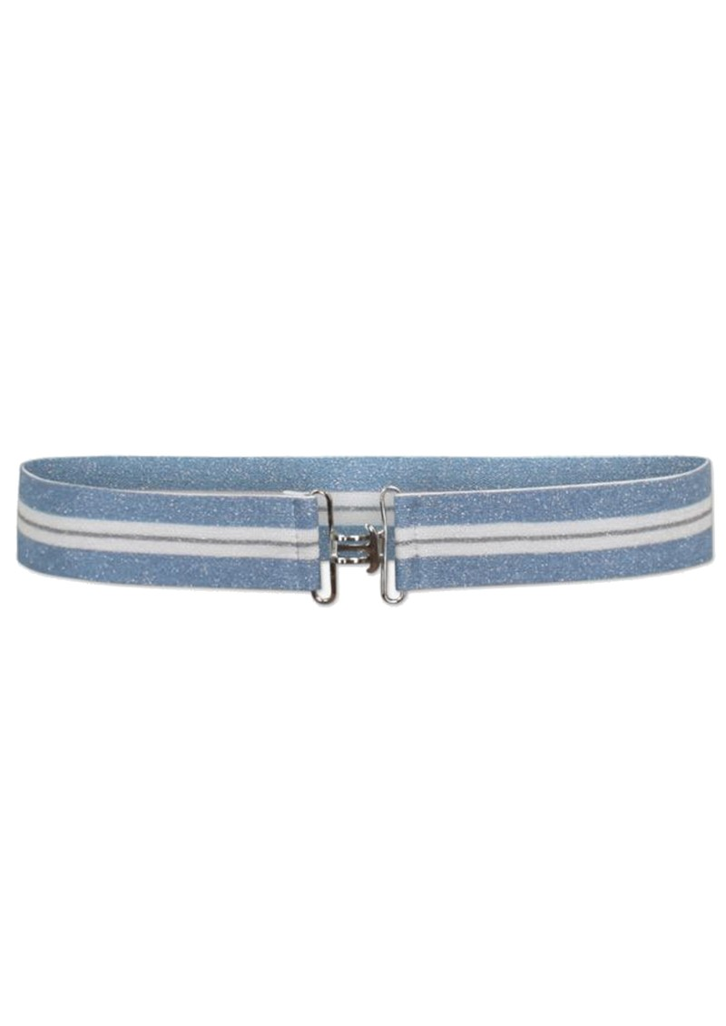 BAUM UND PFERDGARTEN Laila Lurex Elasticated Belt - Blue & Cream main image