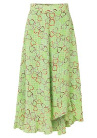 STINE GOYA Marigold Skirt - Hearts Green
