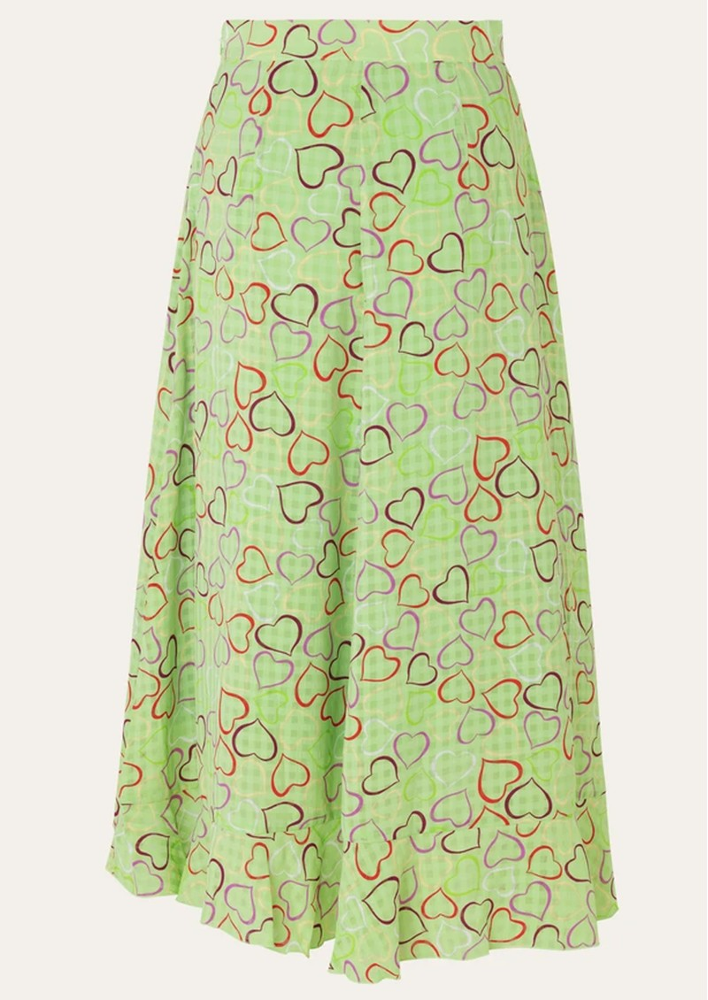 STINE GOYA Marigold Skirt - Hearts Green main image