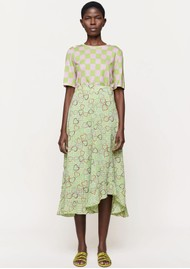 STINE GOYA Marigold Skirt - Hearts Green