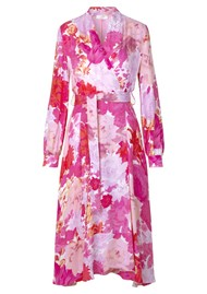 STINE GOYA Reflection Silk Mix Dress - Rosegarden