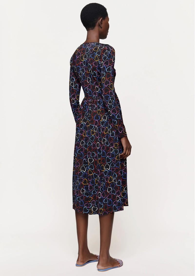 STINE GOYA Alina Jersey Dress - Hearts Black main image