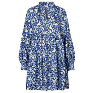 Jasmine Silk Dress - Forget Me Not