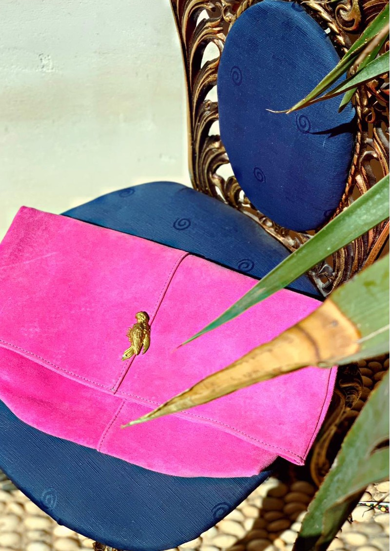 Sous Les Paves Spritz Fold Over Parrot Bag - Candy & Camo main image