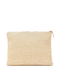 Sous Les Paves Sunrise Raphia Clutch Bag - African Gold