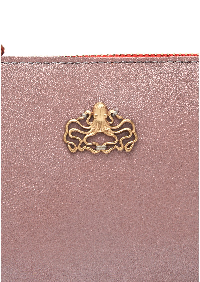 Sous Les Paves Anata Octopus Leather Pouch - Rose  main image