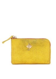 Sous Les Paves Anata Stingray Leather Pouch - Paille