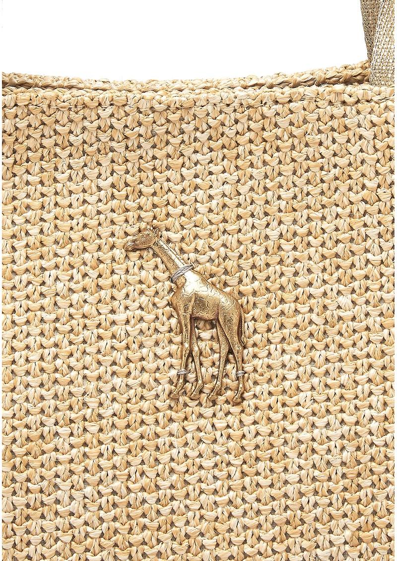 Sous Les Paves Honeymoon Raphia Bag - Giraffe main image