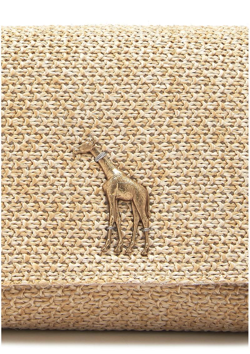 Sous Les Paves Mai Tai Raphia Bag - Giraffe  main image