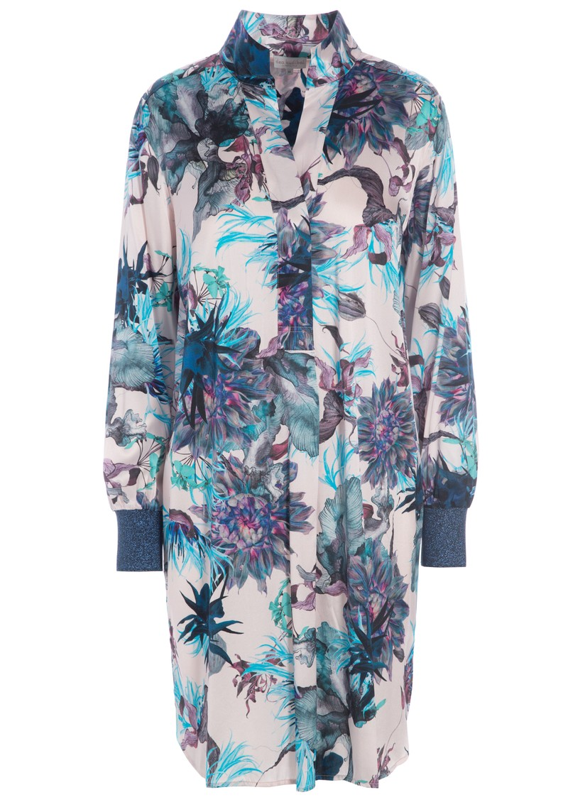 DEA KUDIBAL Katelina Exclusive Silk Printed Dress - Waterlily main image