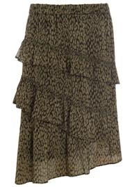DEA KUDIBAL Evie Ruffle Silk Skirt - Animal Army
