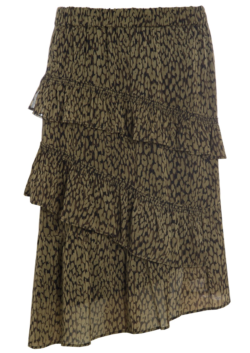 DEA KUDIBAL Evie Ruffle Silk Skirt - Animal Army main image