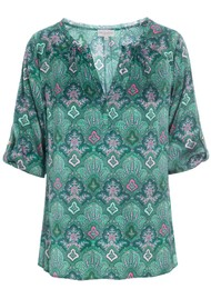DEA KUDIBAL Natali Silk Tunic - Paisley Green