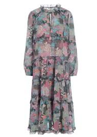 DEA KUDIBAL Felina Exclusive Silk Printed Dress - Woodland Pink