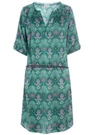 DEA KUDIBAL Maya Silk Printed Dress - Paisley Green