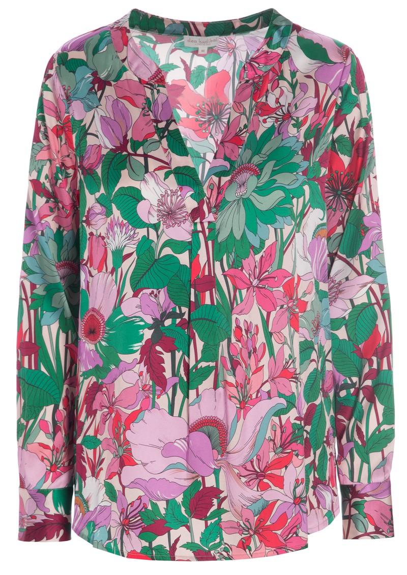 DEA KUDIBAL Santena Exclusive Printed Silk Blouse - Sunflower Rose main image
