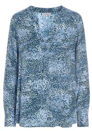 DEA KUDIBAL Santena Exclusive Printed Silk Blouse - Bubbels