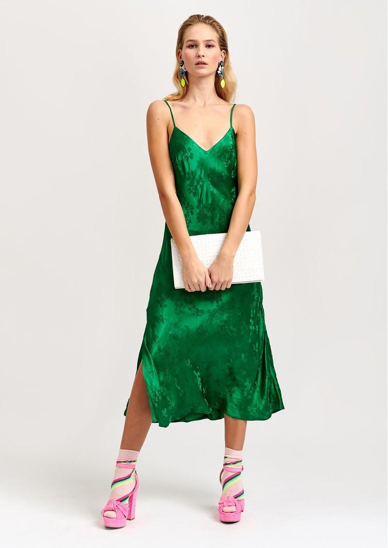 ESSENTIEL ANTWERP Vegetarian Long Slip Dress - Green  main image