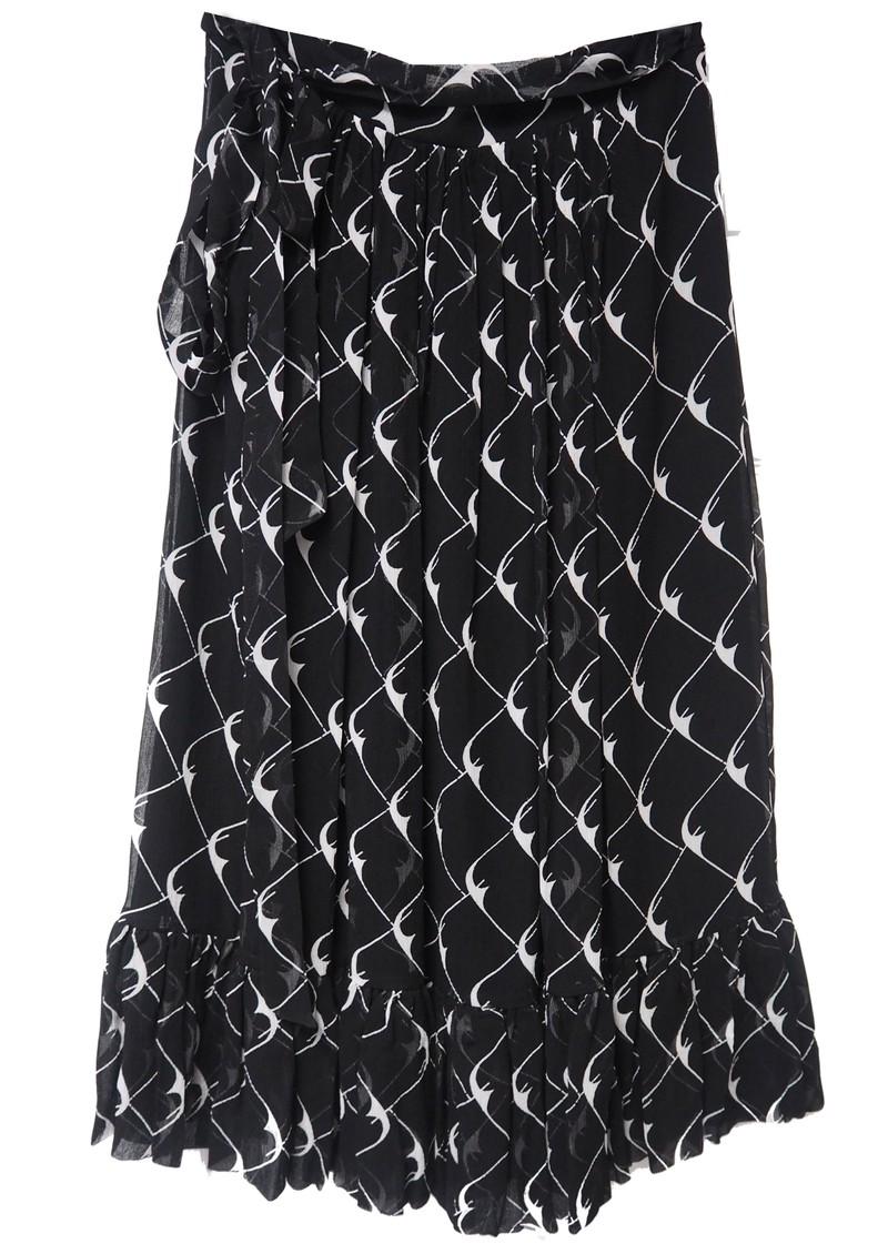 BAUM UND PFERDGARTEN Selda Skirt - Black Cream Boom main image