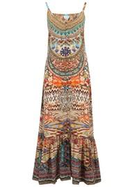 INOA Frill Strap Silk Maxi Dress - Arizona