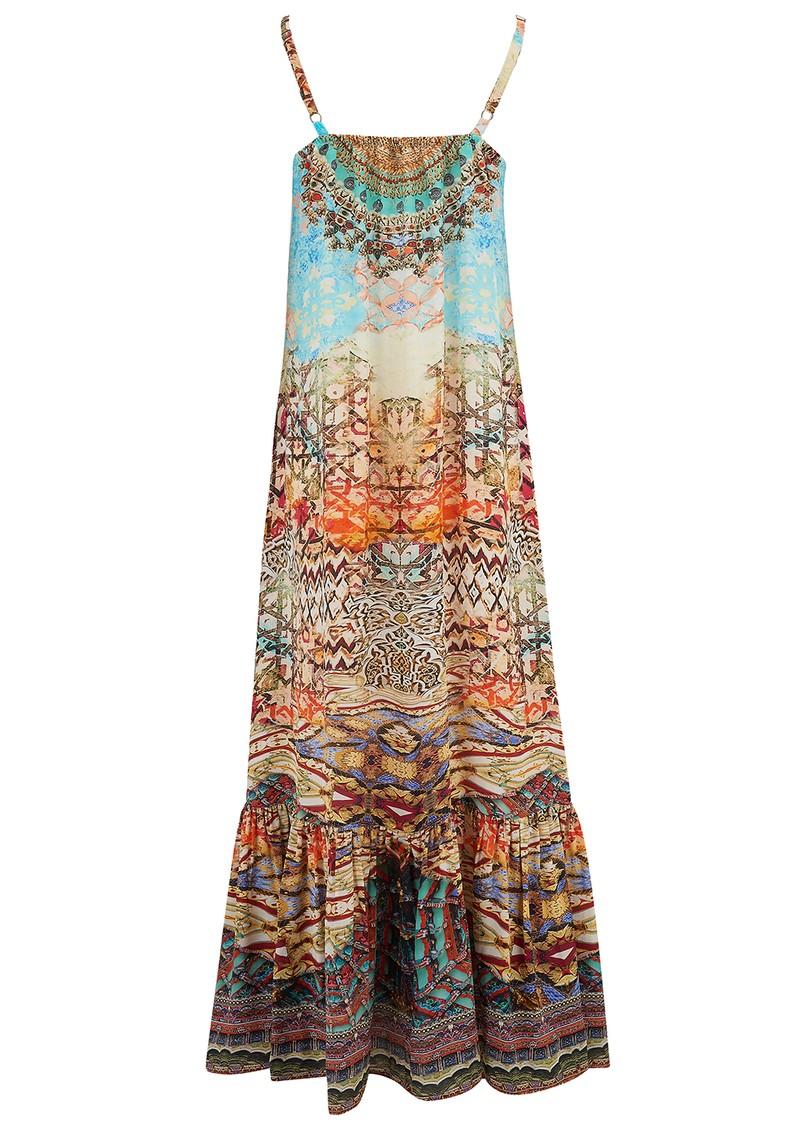 INOA Frill Strap Silk Maxi Dress - Arizona main image
