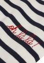 MAISON LABICHE Sailor Long Sleeve Cotton Oh La La Tee - Ivory Navy