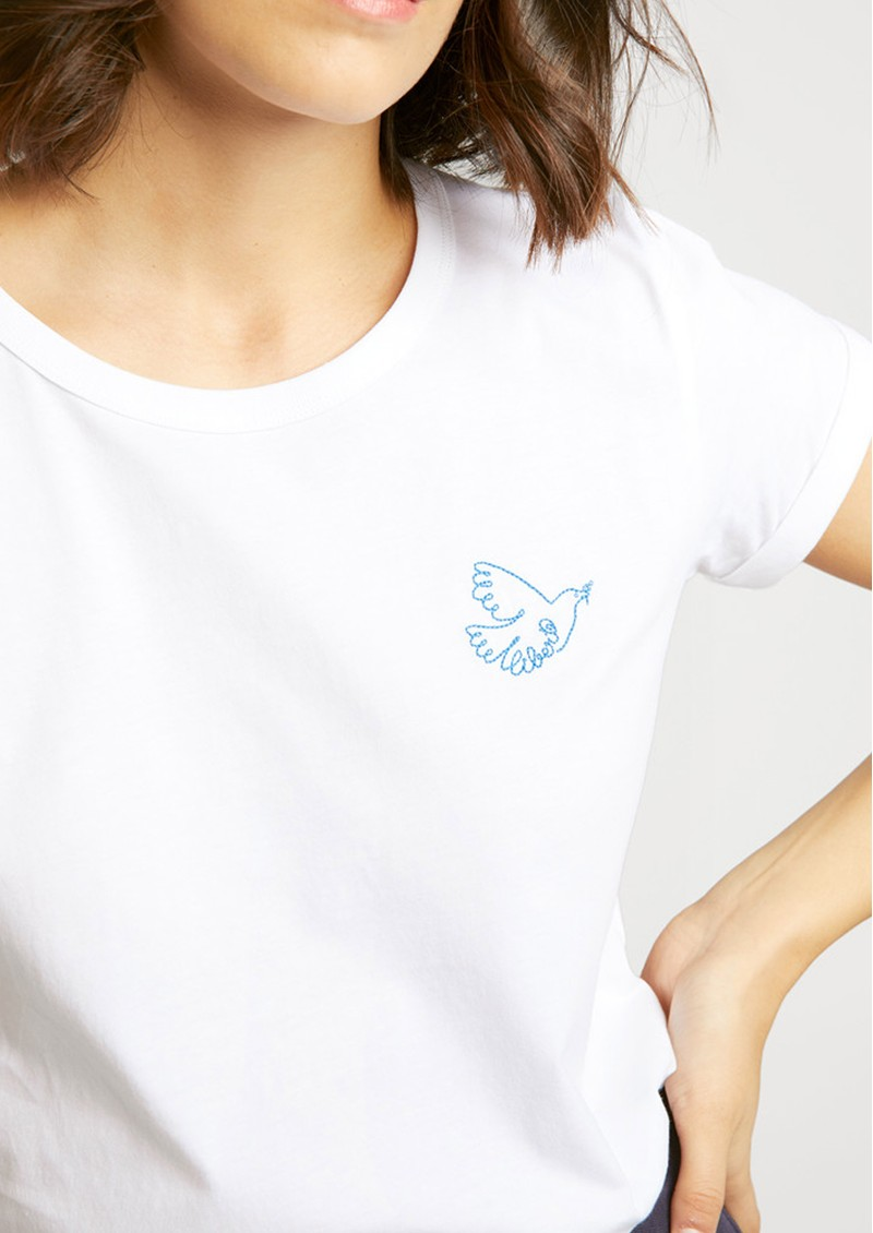 Dove Organic GOTS Cotton Liberte Tee -White main image