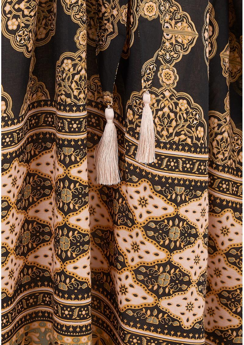 TRIBE + FABLE Jaipur Kimono - Black main image